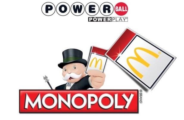 Ganar una de las loterías americanas es más probable que ganar el premio del Monopoly de McDonalds