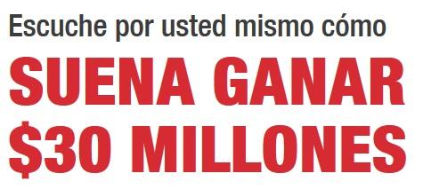 recibe llamada anunciando haber ganado premio 30 millones de dólares