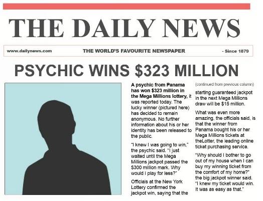 ¿Puede un vidente ganar la lotería?