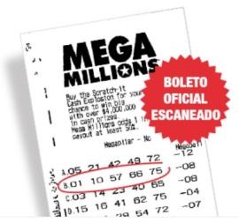 Cinco números ganadores de 1 millón $ en MEGA MILLIONS