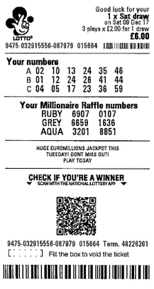 sorteos suplementarios de la lotería del Reino Unido Online